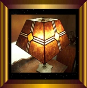 antique lamp shade Mission Diamond