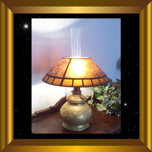 Antique Lamp Shade Kerosene Shade